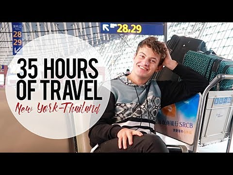 35 HOURS of Travel with Kids: New York to Thailand