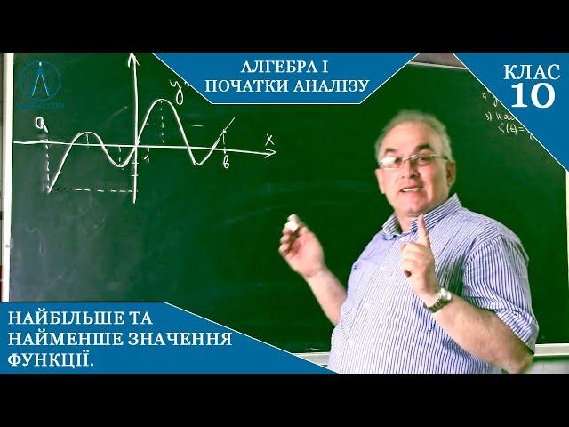 10 клас. Алгебра. Найбільше та найменше значення функції. Знаходження за допомогою похідної.