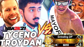 TYCENO + TROYDAN vs GRINDING DF + SHAKE | BEST OF 3 TO WIN NEW PARKS! MAYOR BATTLE 2K21 NEXT GEN