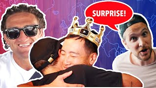 I surprised him with his Favorite Youtubers
