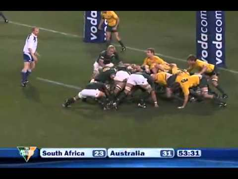 South Africa vs Australia Tri Nations 2010 2nd Game 4/9/2010