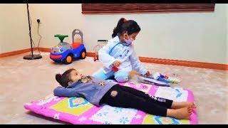 الدكتورة أميرة تعطي المشاغبة ميادة الإبرة