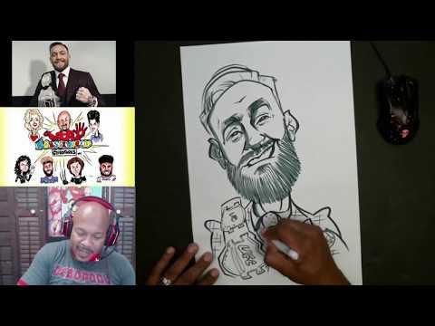 How To Draw Caricature Conor McGregor - Twitch Recap