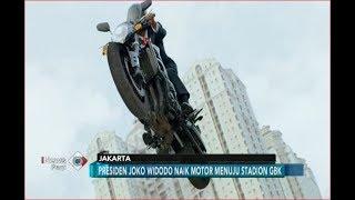 Terjebak Kemacetan, Beginilah ATRAKSI Jokowi Ngebut Naik Motor ke GBK - iNews Pagi 19/08