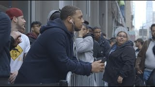 Fans Line up for J. Cole