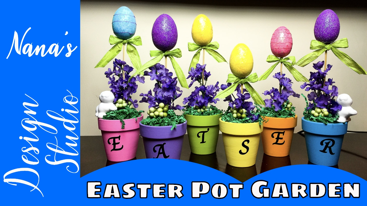 DIY Dollar Tree Easter Egg Garden Do It Yourself The Way This