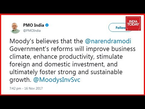 PM Modi Boasts Over Moody's Upgrading India's Credit Rating After 13 Years