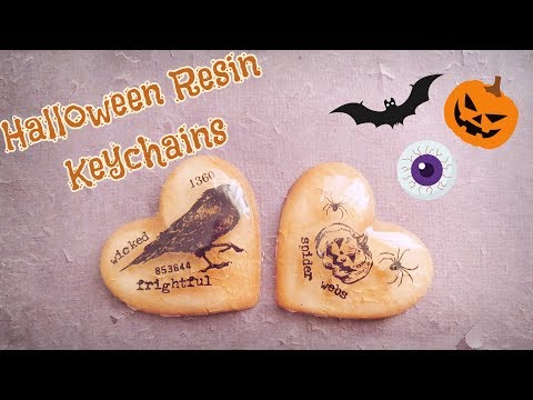 🎃 HALLOWEEN Resin Keychains DIY 🎃