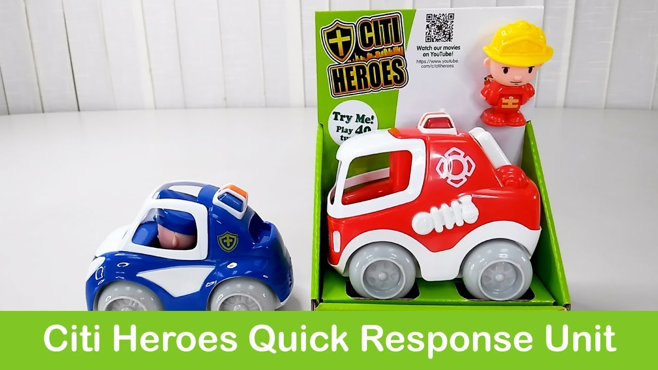 """Interactive """"Citi Hoes Quick Respond Team"""" Toys Open Box"""