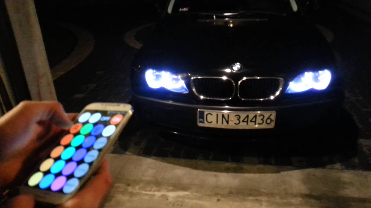 bmw e46 angel eyes rgb youtube. Black Bedroom Furniture Sets. Home Design Ideas