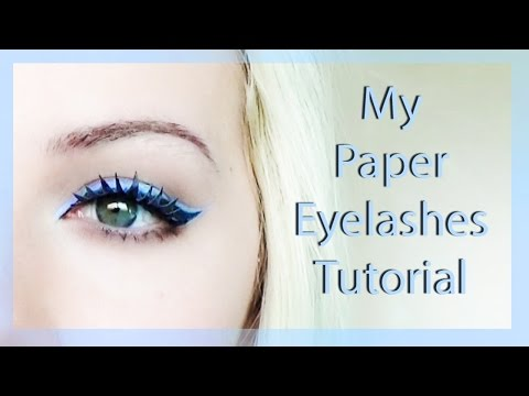 How I Make My Paper Eyelashes!