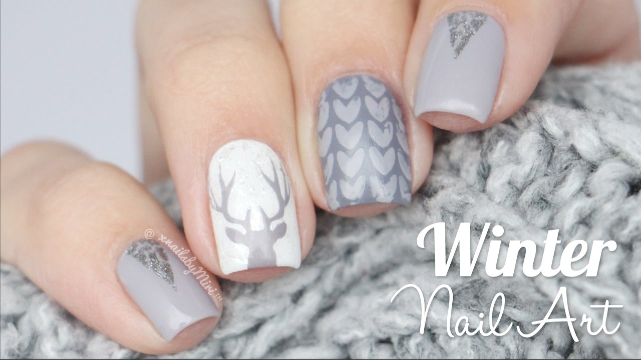 Winter Wonderland Nail Art! - YouTube