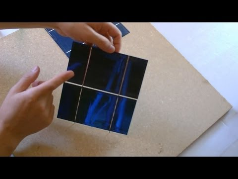 """How to make a Solar Panel - First Step: Solar Cell """"Tabbing"""" - How to """"Tab"""" Solar Cells"""