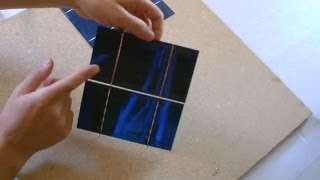 "How to make a Solar Panel - First Step: Solar Cell ""Tabbing"" - How to ""Tab"" Solar Cells"