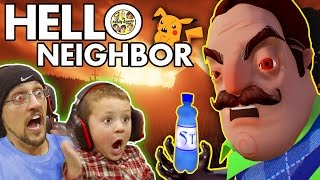 Repeat youtube video HELLO NEIGHBOR! Scary BASEMENT Mystery Game!  His Secret? Water Bottle Flip Addiction? (FGTEEV Fun)