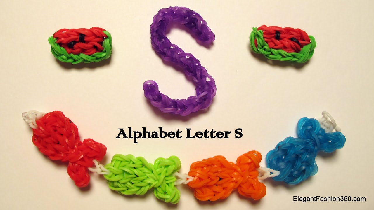 tutorial bands bead using watch letters name loom bracelet rainbow band alphabet youtube