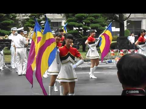 a performance of the police band on Sapporo old provincial office in Hokkaido, japan
