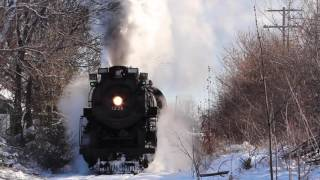 Pere Marquette 1225 Departing Owosso with the North Pole Express!