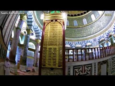 Merdu! Adzan di Masjid Kubah Batu (Dome of The Rock), Palestina