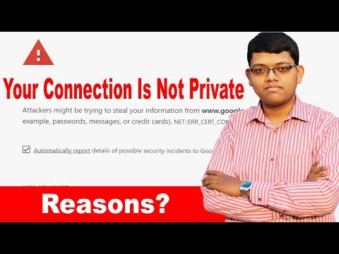 Your Connection Is Not Private Google Chrome Problem  | What Is The Reason ? Explained In Hindi