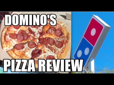 Dominos Kitchen domino's pepperoni pizza food review - greg's kitchen fast food