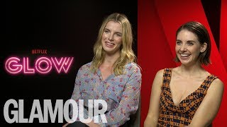 Alison Brie & Glow Cast Chat Wrestling, the 80s & Girl Power | Glamour UK