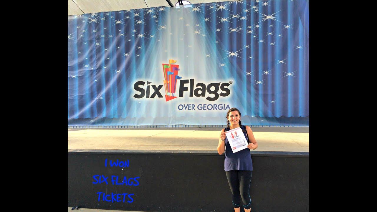 I WON SIX FLAGS TICKETS!