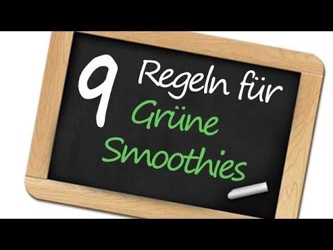 9 Regeln für Grüne Smoothies die du kennen solltest