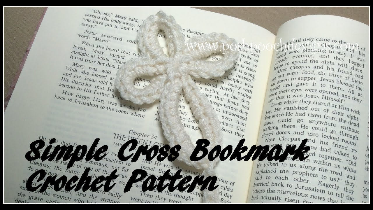 Simple Cross Bookmark Crochet Pattern
