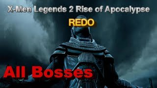 X-MEN Legends 2 Rise of Apocalypse All Bosses REDO PS2
