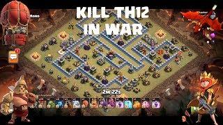 Kill TH12 in war | TH12 war attack Strategy December 2019 | We Run IT vs 300s