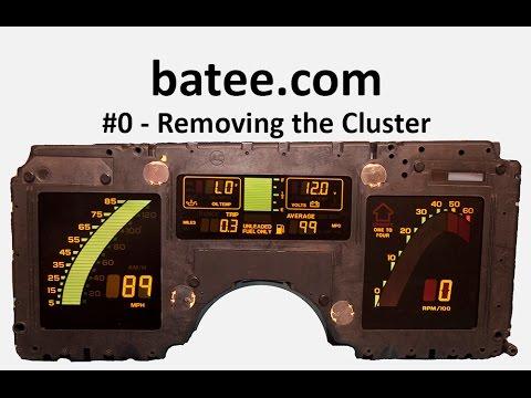 84-89 Corvette Gauge Fix #0 Removing The Cluster