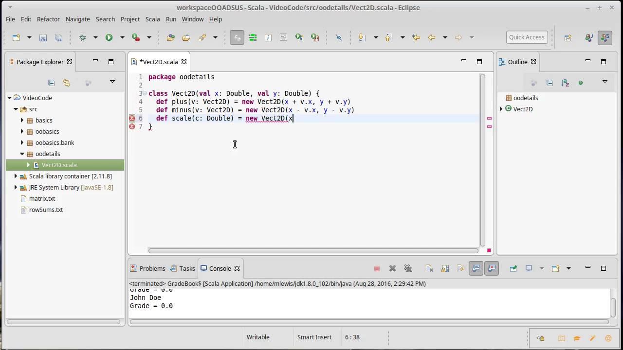 2d vector class using