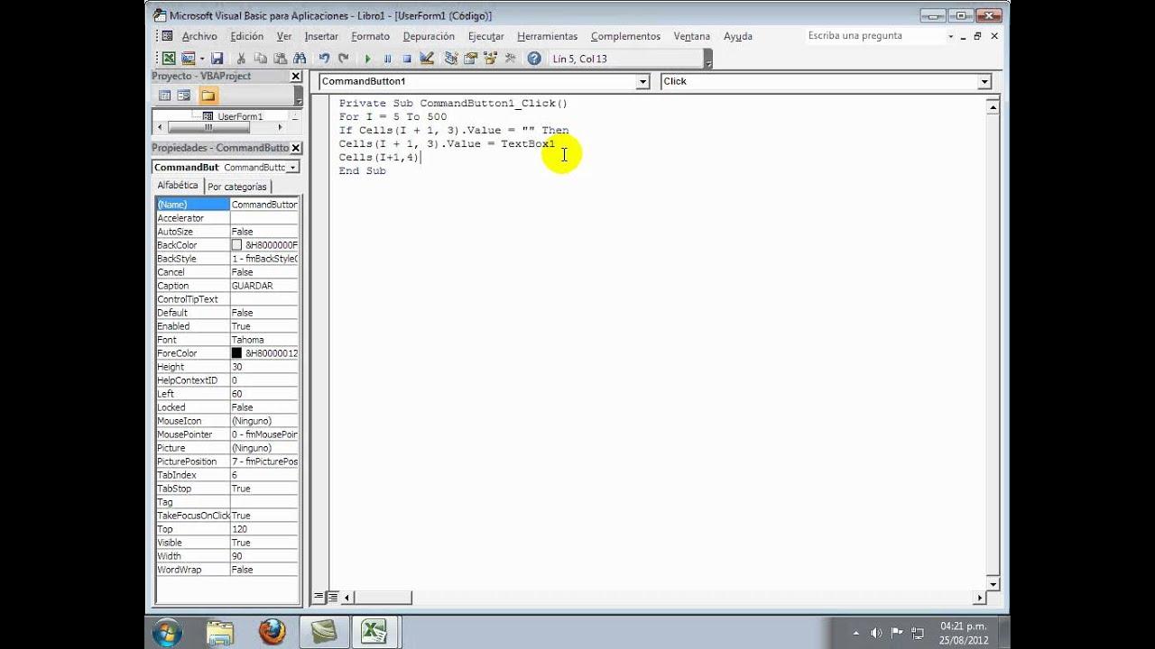 Visual Basic Amp Excel Formularios Practicos