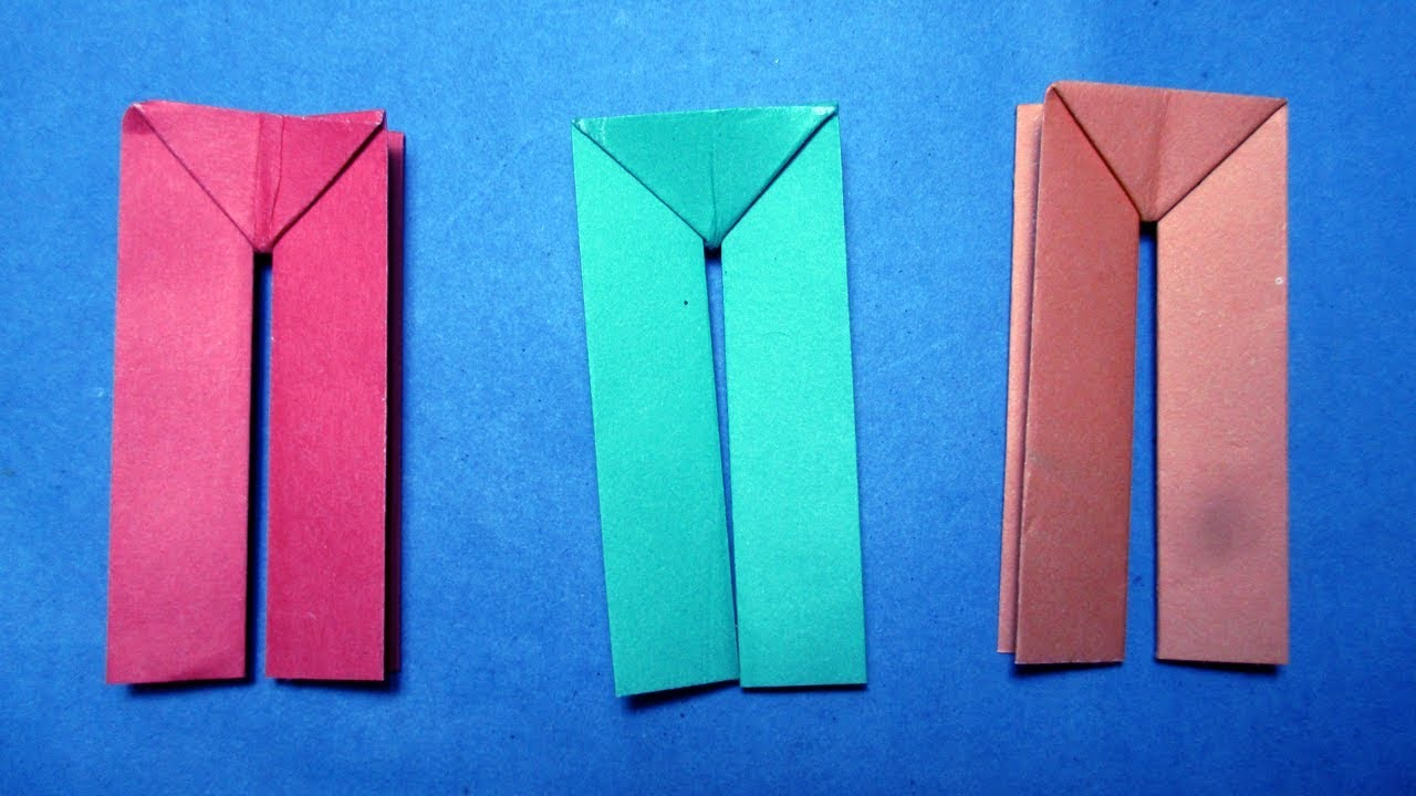 origamihow to make paper dress pants origami paper
