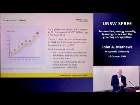 UNSW SPREE 201410-16 John Mathews - Renewables, energy security, China and capitalism
