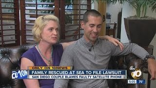 Family rescued at sea says satellite cell phone service provider left them in a life-or-death crisis