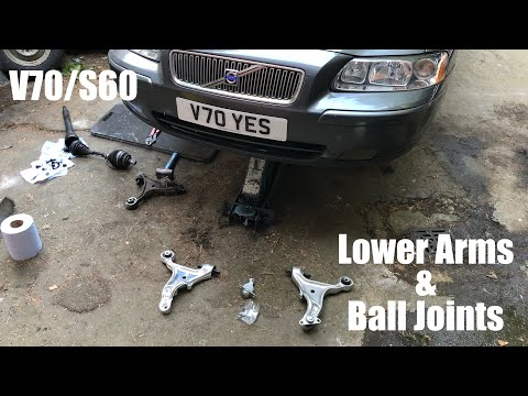 Volvo V70 S60 P2 How to replace the lower arms and ball joints – Removal guide DIY XC70