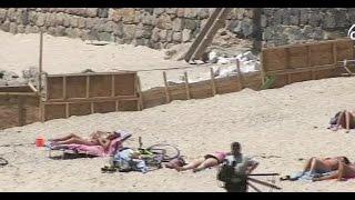 Playa de Concón apareció dividida por un muro - CHV NOTICIAS