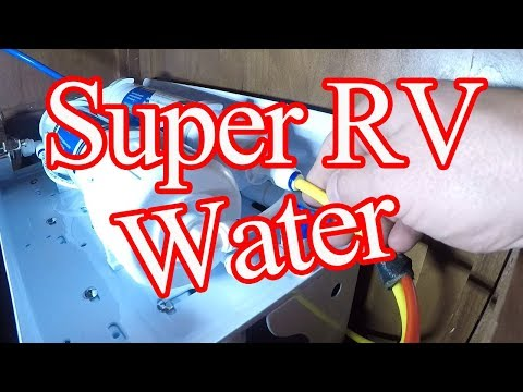 Crazy Couple Installed A Full House  RO Drinking Water System In Their RV!
