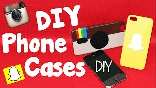 Diy Crafts: 2 Easy Diy Phone Cases - Instagram & Snapchat Phone Case Projects