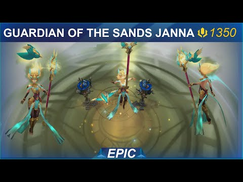 Guardian of the Sands Janna Skin Spotlight | SKingdom - League of Legends