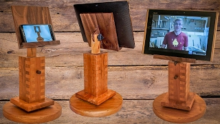 How to make an adjustable and rotating cell phone / tablet stand