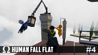 CLIMBING THE EPIC SKY TOWER! (Momentum Map) | Human Fall Flat #4 Ft. Delirious, Toonz, Squirrel