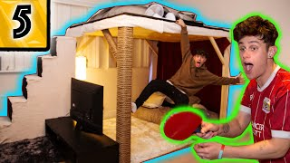 HE BUILT A CASTLE IN HIS ROOM!