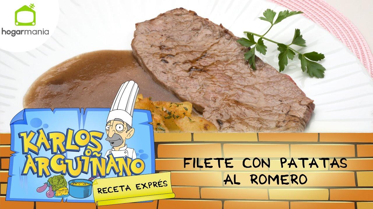 Receta De Filete Con Patatas Al Romero Por Karlos Arguiñano