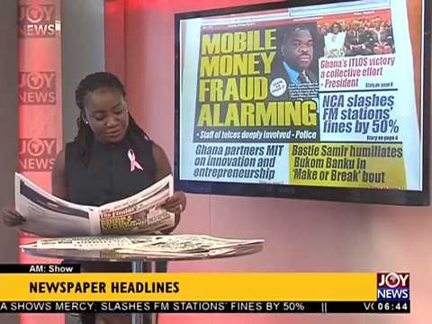 AM Show Newspaper Headlines on JoyNews (23-10-17)