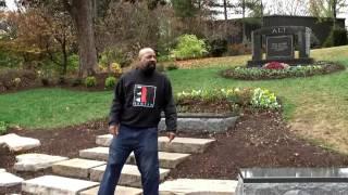 Glen Singleton at Muhammad Ali Grave site Cave hill Cemetery Louisville, Kentucky