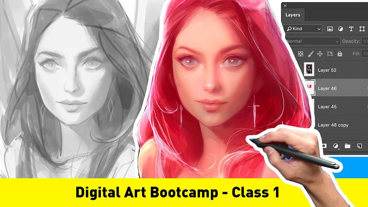 Digital Art Bootcamp - CLASS 1.1 (FREE TUTORIAL!)