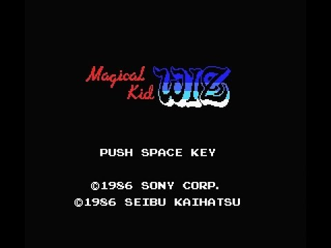 Magical Kid Wiz (MSX) Gameplay All Stages Completed